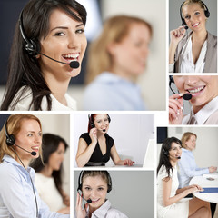 Compilation of women in call center