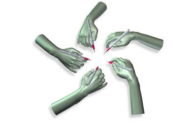Escher-Hände