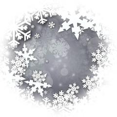 Rahmen aus Schneesternen