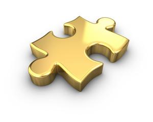 Gold Jigsaw Piece