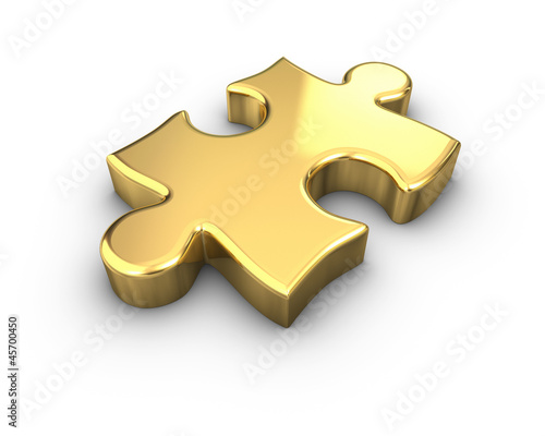 Gold Jigsaw Piece