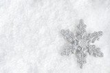 Christmas Snowflake on Snow