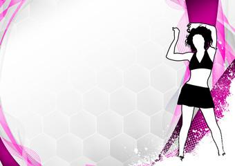 Zumba fitness dance background