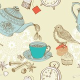 vintage morning tea background