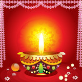 abstract traditional diwali background