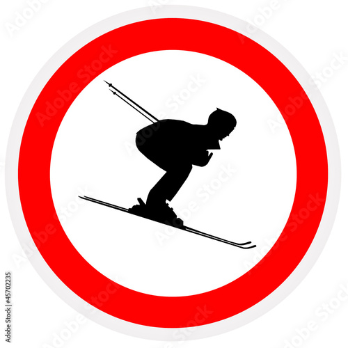 Sign - not skiing