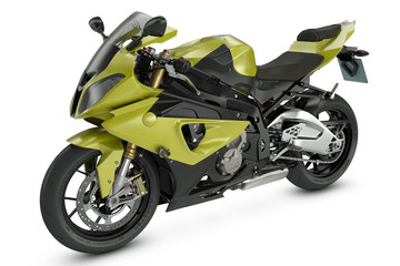 Yellow Sport Motorcycle