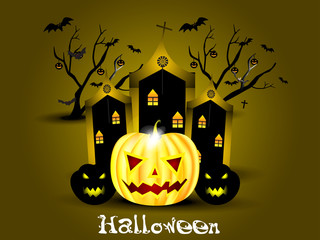 abstract halloween background with pumpkin