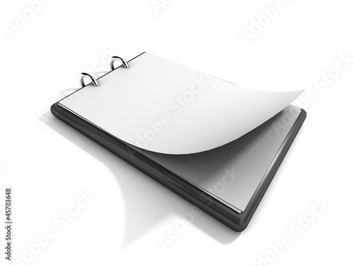 Blank clipboard isolated on a white background
