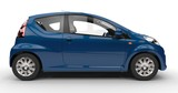 Fototapety Small Blue Car