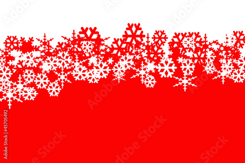 red and white background with red and white snowflakes
