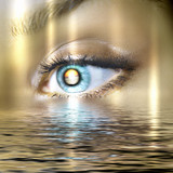 Fototapety Eye overlooking water scenic