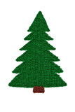 Needlework. Knitted Christmas tree poster