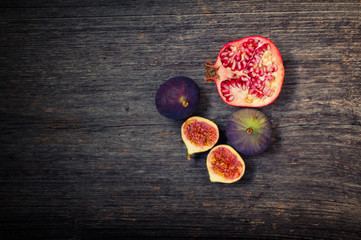 Pomegranate and fig