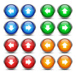 Vetor Pfeil Button Set  - 02 - blau, grün, rot, orange