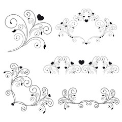 set: elegant elements and page decoration