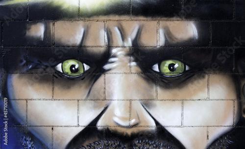 Fototapeten,graffiti,kunst,grossstadtherbst,gesicht