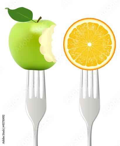 Fourchettes Pomme Orange