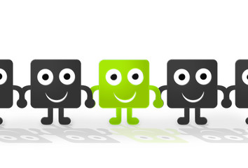 Grüne Figur - Reihe