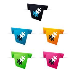 Symbole vectoriel papier origami compétences
