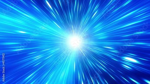 Blue Time Travel Looping Background