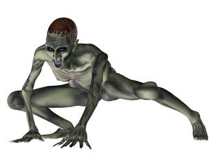 aggressiver Zombie
