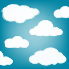 Sky background with transparent clouds.