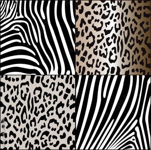 zebra und leopardenmuster