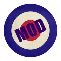 Abstrat grunge Mod music symbol