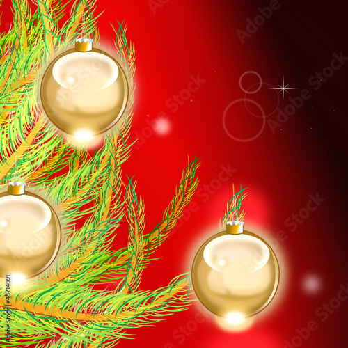 Pine Tree and Ball Background
