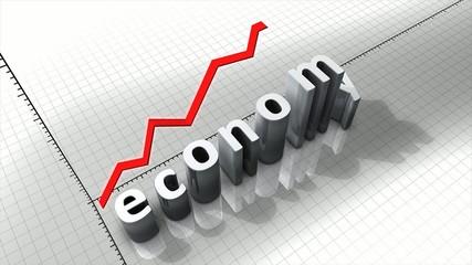 Growing economy chart animation.