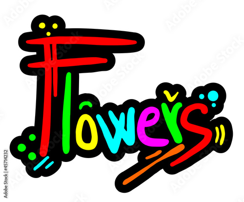 Color flowers graffiti