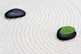 Zen Garten | Wohlbefinden | Schwarze Steine