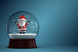 Fototapety 3D Render of snow globe with Santa Claus