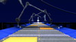 animated technological industrial transporter background
