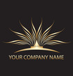 Gold lotus logo for you company name