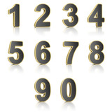 Numbers set over white background