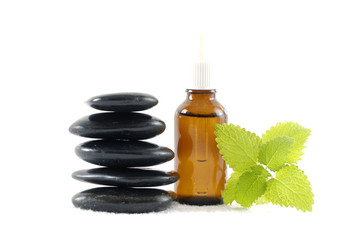 aroma therapy- essential oil and stones, mint