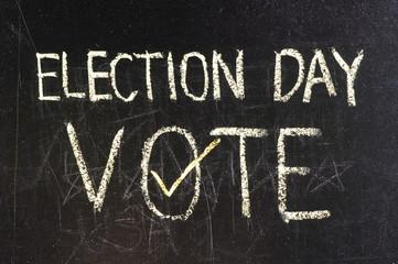 Vote written on blackboard