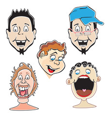 Laughing guys, illustration