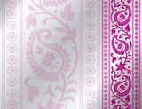 Fototapety paisley floral pattern , wedding template , royal India