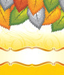 Vector banner of fancy leaves