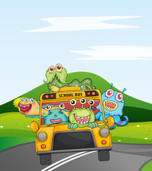 monsters in schoolbus