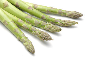 asparagus shoots close up