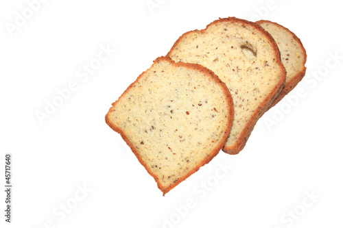 Gluten free bread slices isolated