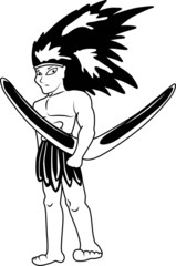 Aboriginal vector cartoon