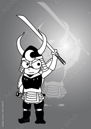 Samurai vector cartoon