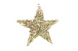 Rosemary (Rosmarinus officinalis) isolated in star shape on whit