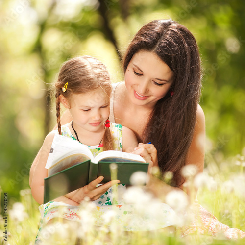 Mother with daughter in the park