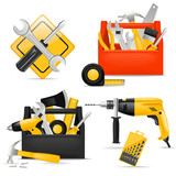 toolbox and DIY tools